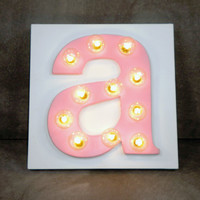 Custom Wood Lighted Letter for Nursery Kids Room Play Room Decor Nursery Letter