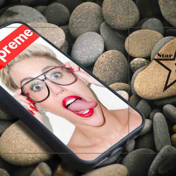 miley cyrus glasses iPhone Case, iPhone 4/4S, 5/5S, 5c, Samsung S3, S4 Case, Hard Plastic and Rubber Case By Dsign Star 08