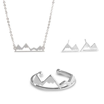 Silver Mountain Jewelry Set