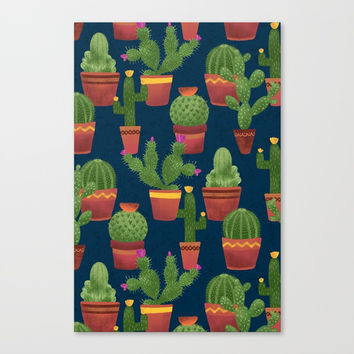 Terra Cotta Cacti Canvas Print by Noonday Design