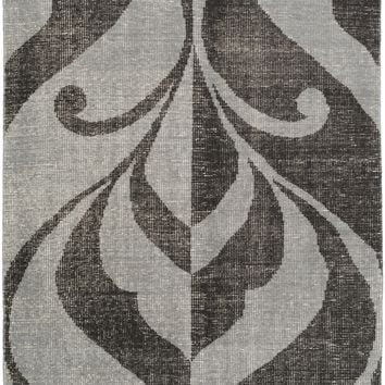 Surya Paradox PRX1002 Black/Gray Medallion and Damask Area Rug