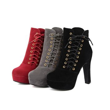 Hot Deal On Sale High Heel Boots [11192768391]