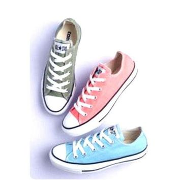 LMFUG7 Converse' Fashion Canvas Flats Sneakers Sport Shoes Low tops
