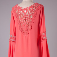 Coral Tunic Top
