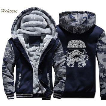 Star Wars Force Episode 1 2 3 4 5  Hoodies Men Darth Vader Sweatshirt Coat Winter Thick Fleece Warm Join The Empire Camouflage Jacket  Sportswear AT_72_6