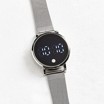 Mesh Band Digital Watch   Urban Outfitters