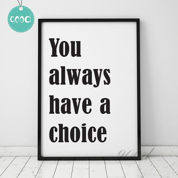 Inspiration Quote Art Print painting Poster, Wall Pictures for Home Decoration Wall Decor,  YE026