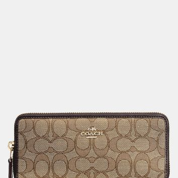 COACH SLIM ACCORDION ZIP WALLET IN SIGNATURE JACQUARD | Dillards