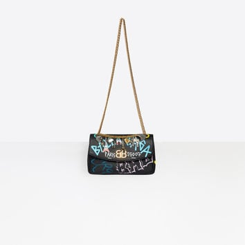 Women's Black / Multicolor BB Round M Graffiti | Balenciaga
