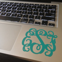 DIY Computer Monogram Decal (3 inches wide)