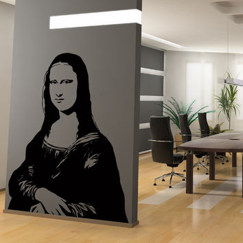 Mona Lisa painting by Leonardo da Vinci. Wall decal. #AC216