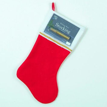 Customizable Christmas Stocking - Traditional Red Felt Stocking