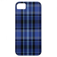 Navy Blue Plaid iPhone 5 Case-Mate from Zazzle.com