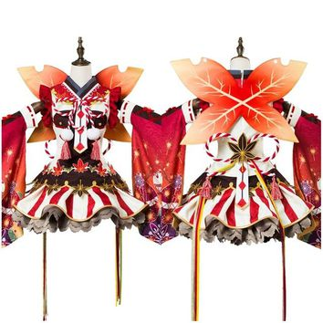 LoveLive Cosplay Ruby Kurosawa Aqours Maple Leafs Ver Kimono Girls Costume Full Sets Halloween Carnival Cosplay Costume