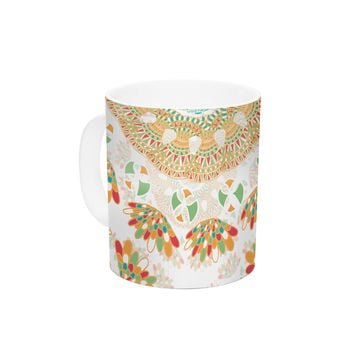 "Miranda Mol ""Bohemian Bright"" Geometric Multicolor Ceramic Coffee Mug"