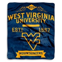 West Virginia University Raschel Throw Blanket