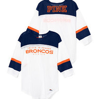Denver Broncos Long Sleeve Boyfriend Tee - PINK - Victoria's Secret