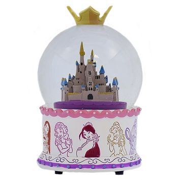 Disney Parks WDW Cinderella Castle Princess Once Upon a Dream Snowglobe New