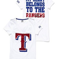 Texas Rangers Metallic V-neck Tee - Victoria's Secret Pink?- - Victoria's Secret