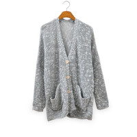 Mixed Grey Color Cardigan