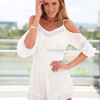 BOHEMIAN PLAYSUIT , DRESSES, TOPS, BOTTOMS, JACKETS & JUMPERS, ACCESSORIES, $10 SPRING SALE, NEW ARRIVALS, PLAYSUIT, GIFT VOUCHER, $30 AND UNDER SALE, SWIMWEAR, SLEEP WEAR,,White,JUMPSUIT Australia, Queensland, Brisbane