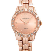 Charter Club Women's Rose Gold-Tone Bracelet Watch 30mm