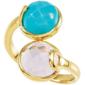 Missoma® 18kt Yellow Vermeil Amethyst & Turquoise Ring