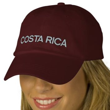 Costa Rica Emboidered Hat Embroidered Baseball Caps | Zazzle