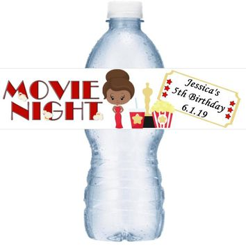 21 Personalized Movie Oscar Night Birthday Party Water Label