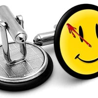 Watchmen Smiley Face Cufflinks