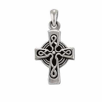 Sterling Silver Celtic Cross Charm Pendant