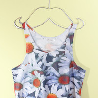Daisy Crop Tank Top