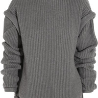 Christopher Kane | Oversized cashmere open-back sweater | NET-A-PORTER.COM