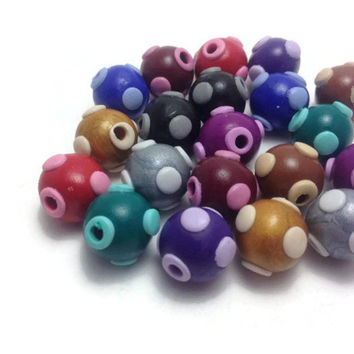 Handmade Beads, Fimo Beads, Polymer Clay Beads, Jewelry Making, Craft Supplies