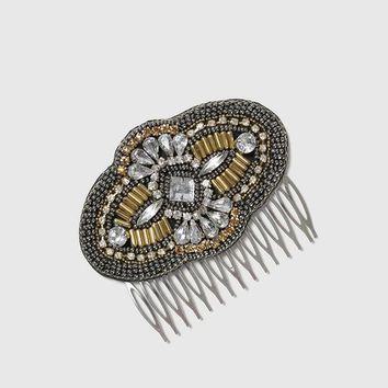 Ethnic Beaded Hair Comb - New In