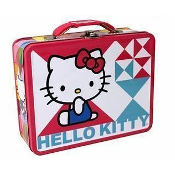 Hello Kitty Blue & Pink Embossed Carry All Lunch Box - Gifts
