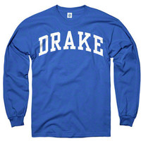 Drake Bulldogs Royal Arch Long Sleeve T-Shirt