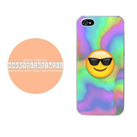 Tie Dye Sunglasses Emoji iPhone 4/4s 5/5s/5c & iPod 4/5 Case