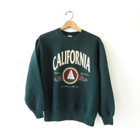 20% OFF SALE Vintage California Sweatshirt. College Tailgate Sweater. Prep School Sweatshirt.