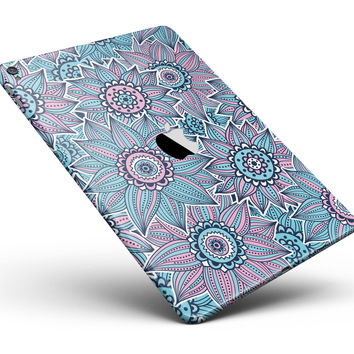 """Pink & Blue Flowered Pattern Full Body Skin for the iPad Pro (12.9"""" or 9.7"""" available)"""