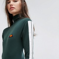 Ellesse Long Sleeve Body With High Neck In Rib at asos.com