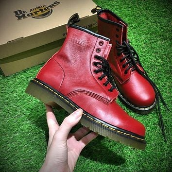 Sale Newest Dr. Martens Modern Classics 1460 Retro Red Leather Boots 524952
