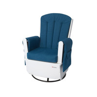 Foundations SafeRocker Standard Glider Rocker White/Blue - 4304126