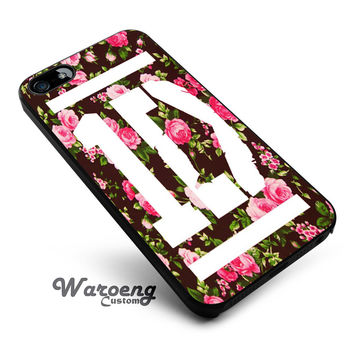 1D One Direction Floral iPhone 4s iphone 5 iphone 5s iphone 6 case, Samsung s3 samsung s4 samsung s5 note 3 note 4 case, iPod 4 5 Case