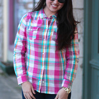 Spring Fever Plaid Button Down {Pink Mix}