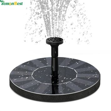 1.4W Floating Water Pump Kit Solar Panel Garden Fountain Plants Watering Power Fountain Pool Round Bird Bath Tank Accessory