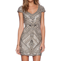 Parker Elijah Sequin Dress in Gray