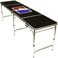 Sports Official Beer Pong Table - 8 Feet with Bottle Opener, Ball Rack, & 6 Pong Balls!