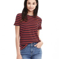 Striped Cotton Pocket Tee | Banana Republic