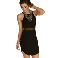 Black A-game Bodycon Dress